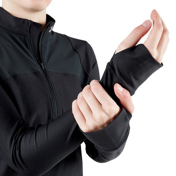 Black hoodie with thumb hole