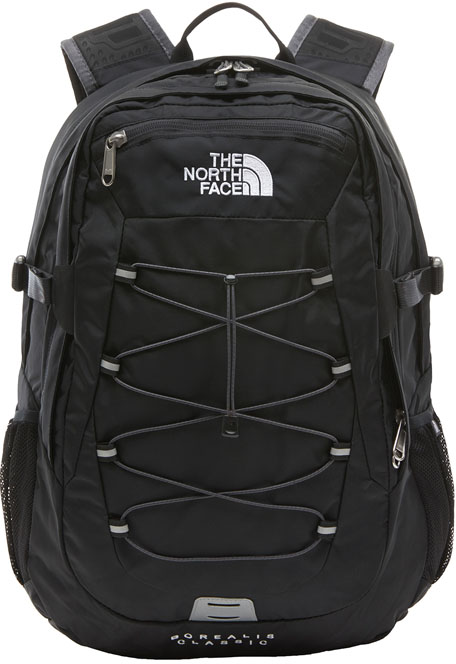 A black backpack